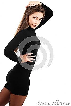 Girl with beautiful figure