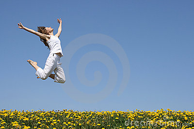 Girl in a beautiful jump