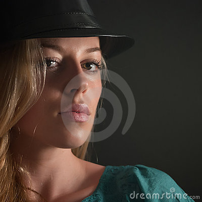 Girl with beautiful lips