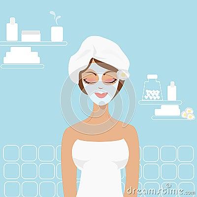 Girl in the beauty center