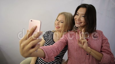 Girl in a beauty salon stock video footage