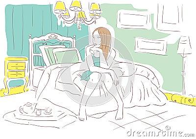 Girl in the bedroom