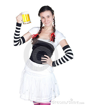 Girl with a beer mug