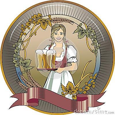 Girl beer waitress
