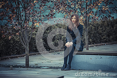 Girl on the bench