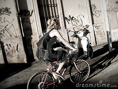 Girl in bicy