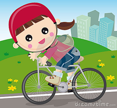 Stock Images: Girl with bicycle