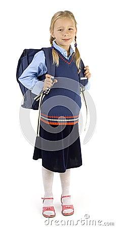 Girl with big backpack