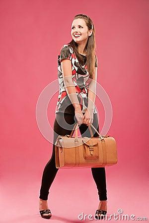 Girl with a big bag