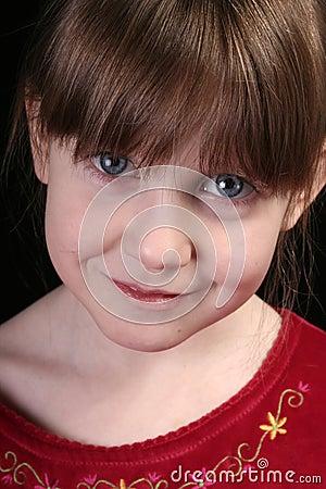 Free Girl Big Blue Eyes Face Stock Photography - 3900592