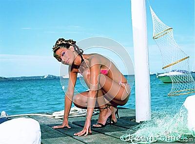 Girl with bikini