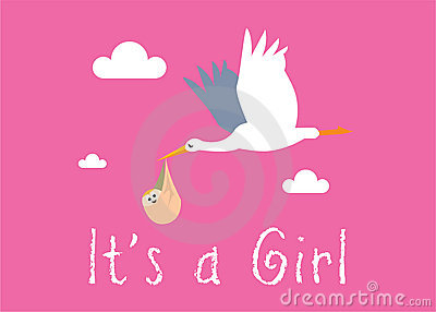 Girl Birth Illustration