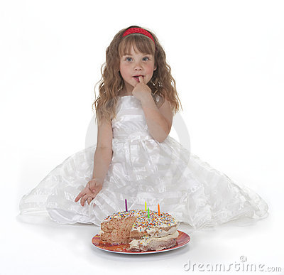 Girl and Birthday Cake