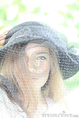 Girl in the black hat