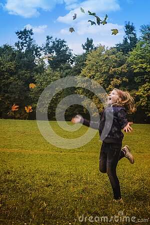 Girl In Black Jacket Standing On Green Grass During Daytime Free Public Domain Cc0 Image