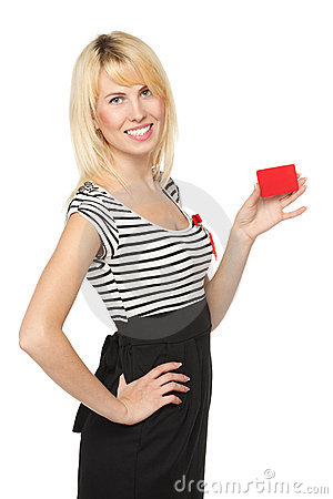 Girl with blank credit card