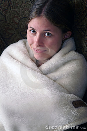 Girl in blanket