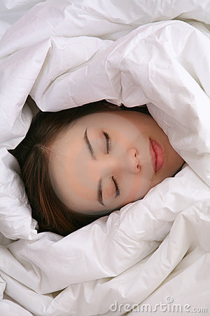 Girl in Blanket Sleeping