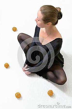 Girl in a blissful reverie