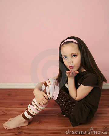 Girl Blowing A Kiss Stock Photography Image 17705702