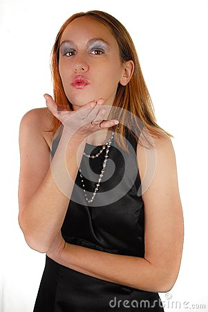 Girl blowing kiss