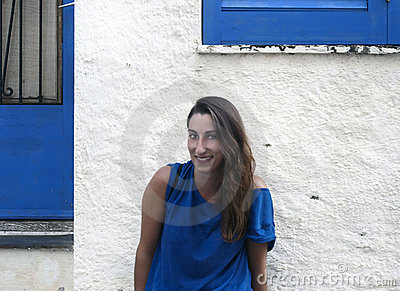 Girl in a blue shirt
