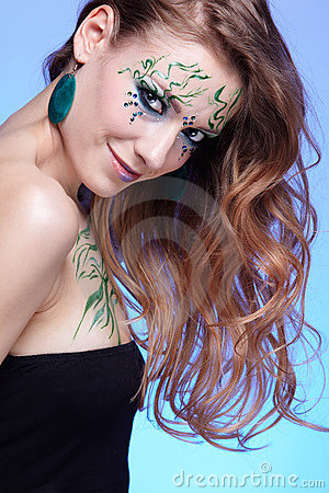Girl with bodyart