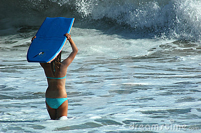 Girl With Boogie Board