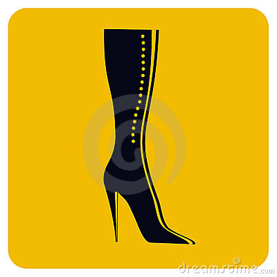 Girl boot icon