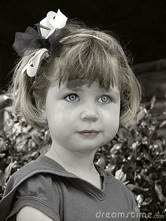 Girl with a bow