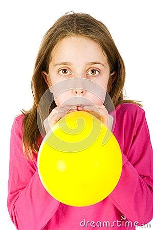 Girl bowing balloon