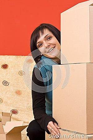 Girl and box