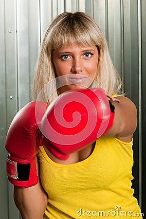 Girl boxer