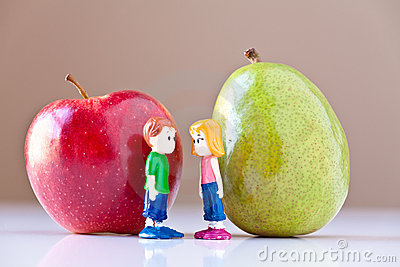Girl and Boy Discussing Healthy Nutrition
