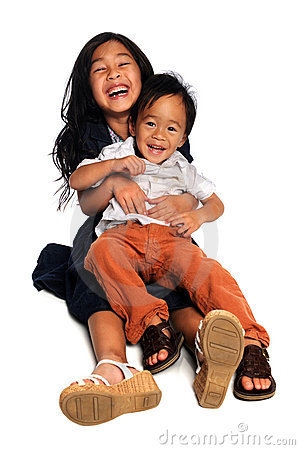 Girl and Boy Laughing