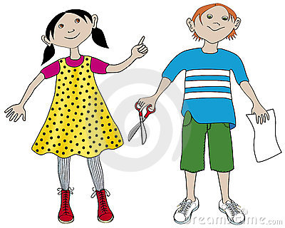 Girl and boy at school