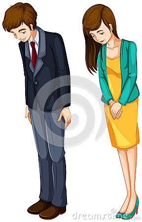 A girl and a boy in their formal attires