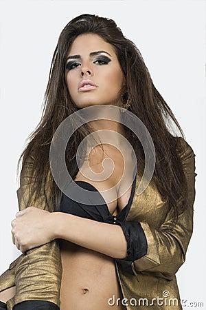 Girl in a bra