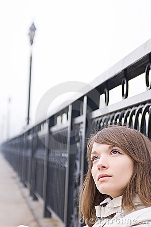 Girl on a bridge