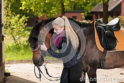 Pony girl bridle