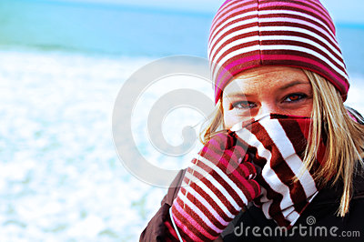 Girl Bundled in Winter