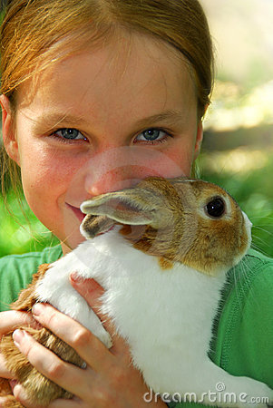 Girl with a bunny