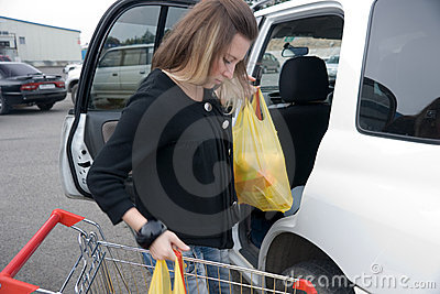 Girl with buying