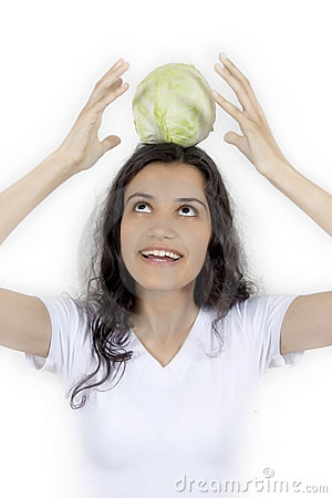 Girl and cabbage