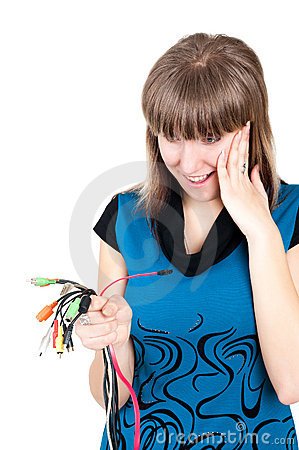 Girl with cable