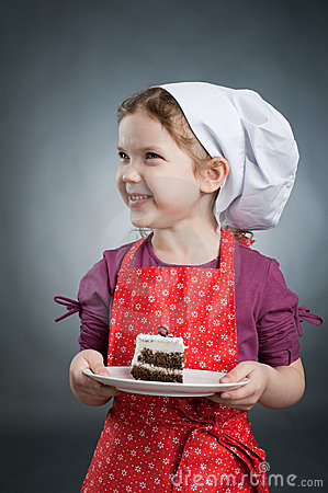 Girl with a cake