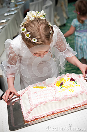 Girl and cake