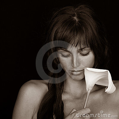 Girl with Calla Flower