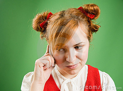 Girl calling on the phone