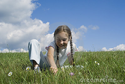 Girl and camomiles I